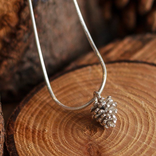 Pine cone pendant-small